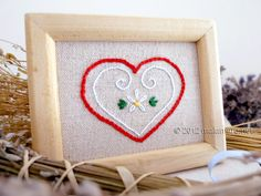 Heart hand embroider