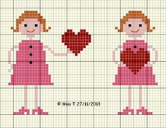 Two Friends, Two Hearts | Cross-Stitch | CraftGossip.com