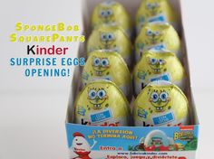 SpongeBob SquarePants Kinder Surprise Eggs Opening!