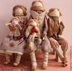 """Народные куклы ручной работы. Ярмарка Мастеров - ручная работа. Купить """"Русское семейство"""" Авторские куклы-образы.. Handmade. Бежевый"""