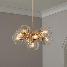 Staggered Glass Chandelier - 9-Light #westelm