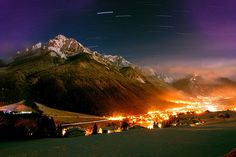 Long exposure night shot of Innsbruck, Austria. I wish I could do this...