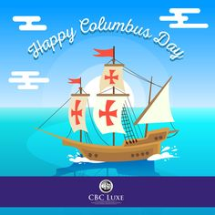 Columbus Ship, Happy Columbus Day, Christopher Columbus, Backgrounds Free, Digital Marketing, Social Media, Creative, Instagram Posts, Columbus Day