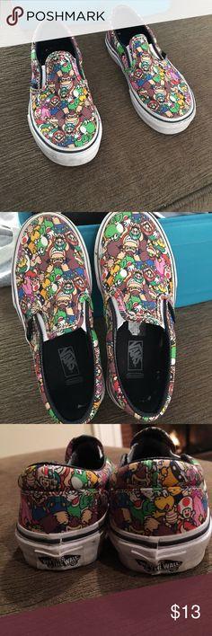 Selling this Vans little boys Nintendo Slip Ons-Size 12. on Poshmark! My username is: ebriks. #shopmycloset #poshmark #fashion #shopping #style #forsale #Vans #Other