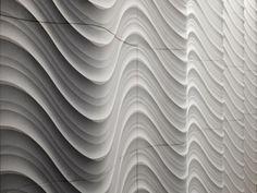 Pannello con effetti tridimensionali in pietra naturale SETA CURVE - LITHOS DESIGN