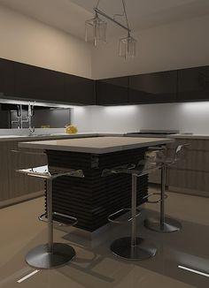 high gloss - modern kitchen