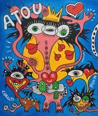 ATOU coeur by Jean-Jacques ROYO Outsider Art