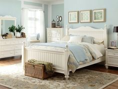 beach cottage master bedroom dark furniture - google search