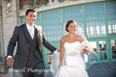 Asbury Park weddings, Asbury Park boardwalk wedding, jersey Shore weddings, beach weddings Russ Meseroll Photography