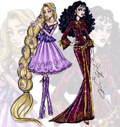 #DisneyDivas Princess vs Villainess by Hayden Williams: Rapunzel & Mother Gothel