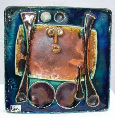 abstract Schäffenacker wall plate No. 33 1968 by Spaceman1964