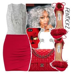 """""""ANTI-Red"""" by chynelledreamz ❤ liked on Polyvore featuring Miss Selfridge, Chanel and Steve Madden"""