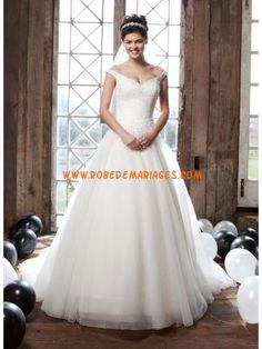 Robe de mariée princesse 2013 avec traine tulle perles