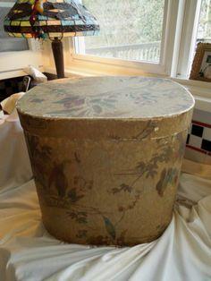 REDUCED Antique Band Box Hat Box 196   eBay
