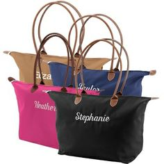Embroidered Tote Bags , Add a Monogram, Name or Initials