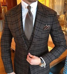 Wedding Suits Amazing suit style for men - Mens Fashion Blog, Mens Fashion Suits, Mens Suits, Fashion Ideas, Best Suits For Men, Cool Suits, Suit For Men, Sharp Dressed Man, Well Dressed Men