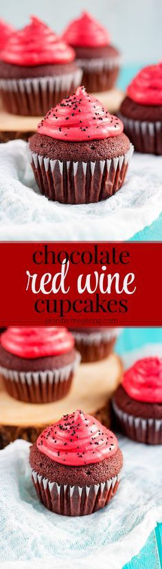 [Msg for 21+] Chocolate Red Wine Cupcakes - JenniferMeyering.com #EntertainandPair #ad