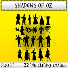 Wizard of Oz Silhouettes 22 png 300dpi clipart by SquidInkShop