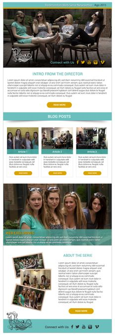 Creative e-newsletter template for a web series by cesar0073