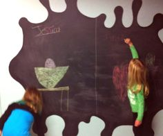 Anywhere you have a wall, you can setup a fun chalkboard to draw, design, doodle, leave notes, and have fun. It's great for a kid's room, home office, or anywhere you walk to be creative. It comes in black and green colors just like traditional chalkboards. You can use it on wood, metal, plaster, paper-board, hardboard and clean it with soap and water.