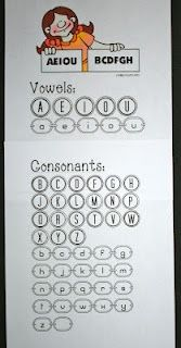 Classroom Freebies: Vowels and Consonants Anchor Chart