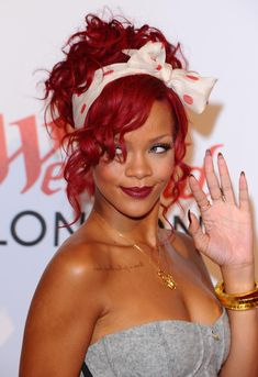 Rihanna always has gorgeous hair. This red on her was my fave.