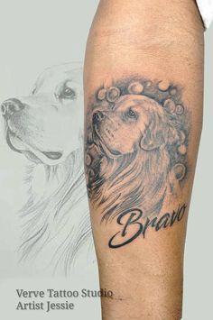 dog portrait  dog tattoo tattoo for boys