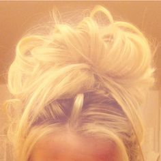 Blonde messy bun=all me! :)