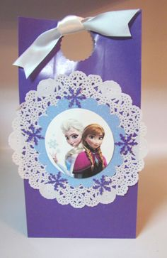 12  Disney Frozen Princess Birthday Party Favor Bags   by KhloesKustomKreation, $21.00