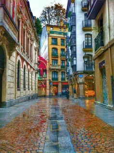 Casco Viejo of Bilbao - Basque Country, Spain Beautiful Places To Visit, Wonderful Places, Great Places, Places To Go, Places Around The World, Travel Around The World, Around The Worlds, Basque Country, Need A Vacation