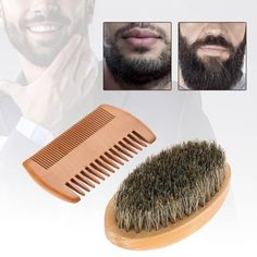 Shaving Brush Beauty & Health Bristle Beard Brush Hairdresser Cleaner Brush Pocket Beard Comb Cleaner Brush Soft Men Beard Comb Pocket Size