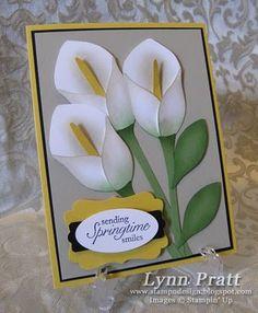 Stampin' Up! Blossom Petals Punch Lynn Pratt Calla Lilies Tutorial