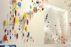 A wall of miniature 3D printed figures in the new exhibition 3D: Printing the Future. Image credit: Science Museum