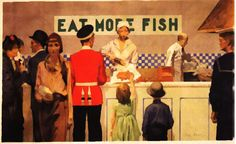 Inch Print (other products available) - Empire Marketing Board poster, More Than Half The Catch Is Sold As Fried Fish Date: - Image supplied by Mary Evans Prints Online - print made in the UK Teacher Lesson Plans, Sea Fish, Fried Fish, Fish And Chips, Canvas Prints, Art Prints, Art Festival, Comic Art