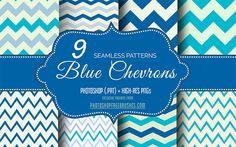 blue-chevrons