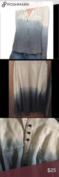 Women's shirt gauze Dip dyed gauze shirt nwt Tops