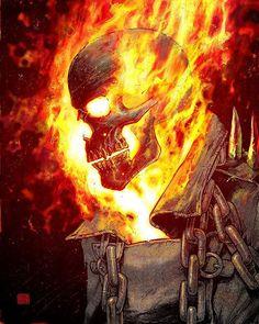 Ghost Rider  by @coloneltonymoore  #ghostrider #johnnyblaze #vengeance…