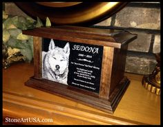 Custom Pet Urn. Oak & Granite. hand made by StoneArtUSA.com since 1999
