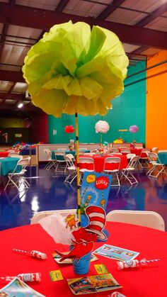 Cat in the hat centerpieces