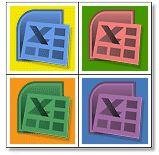 Icono de Excel artístico