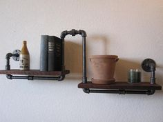 Industrial plumbing SHELF - this is so cool