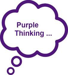Think purple...