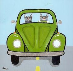 Ryan Conners' Cat Folk Art by emily