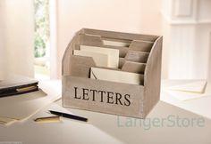 Holz Box,Briefbox,Ablage Schreibtisch,Aufbewahrung Brief Zettel Papier Büro   eBay