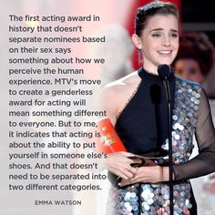 YES Emma! The MTV Movie & TV Awards became the first ceremony to have genderless categories. Emma Watson won the first award of the night for her performance as Belle in Beauty and the Beast made a beautiful speech about the importance of this category decision and also praised Billions' Asia Kate Dillon the first openly nonbinary-identifying actor for educating her. Read about the 5 most inspiring moments. Link in bio. http://levo.im/2pU8ZH5