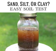 Easy way to find out your soil type