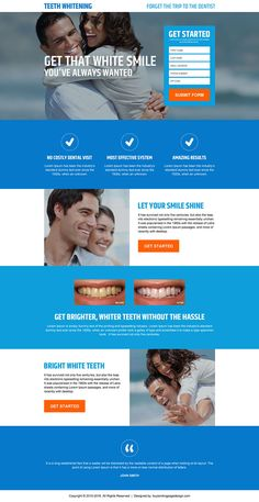 get-white-teeth-without-hassle-resp-lp-07 | Teeth Whitening Landing Page Design preview.