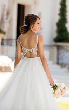 6636 Backless Ballgown Wedding Dress by Stella York Lace Wedding Dress, Gorgeous Wedding Dress, Dream Wedding Dresses, Designer Wedding Dresses, Lace Dress, Tulle Wedding, Mermaid Wedding, Stella York Wedding Gowns, Princess Wedding