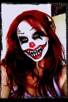 Clown makeup Halloween idea