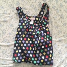 NWOT Polka Dot Tank Multicolored Polka Dot tank from Fashion Magasine Size Medium. No flaws. Tops Tank Tops